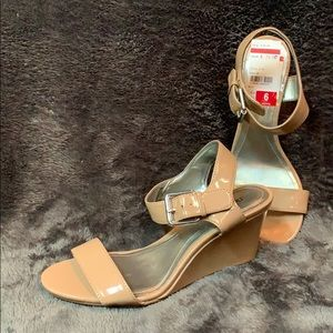 Tan wedge heels - size 6